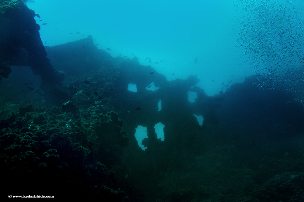 Wreck, Tulamben, US Army Liberty ship from Second world war