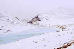 "Frozen stream near Tso-moriri for Sanjoy""s book"