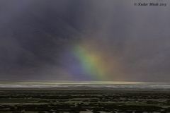 Rainbow in making , Tso Kar lake